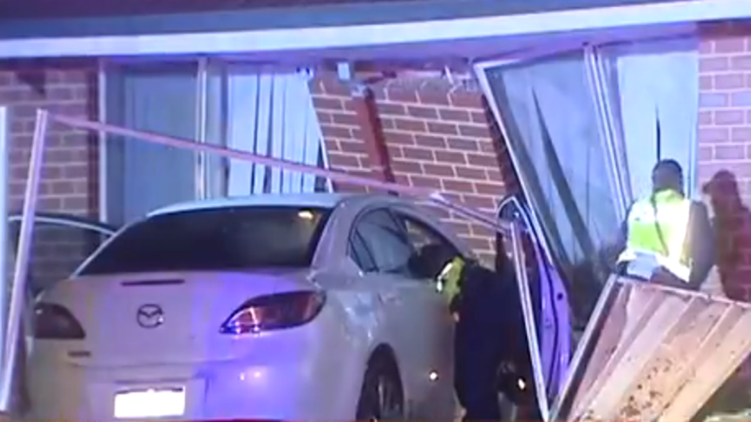 Man Awoken By Tumbling Bricks As Car Hits House