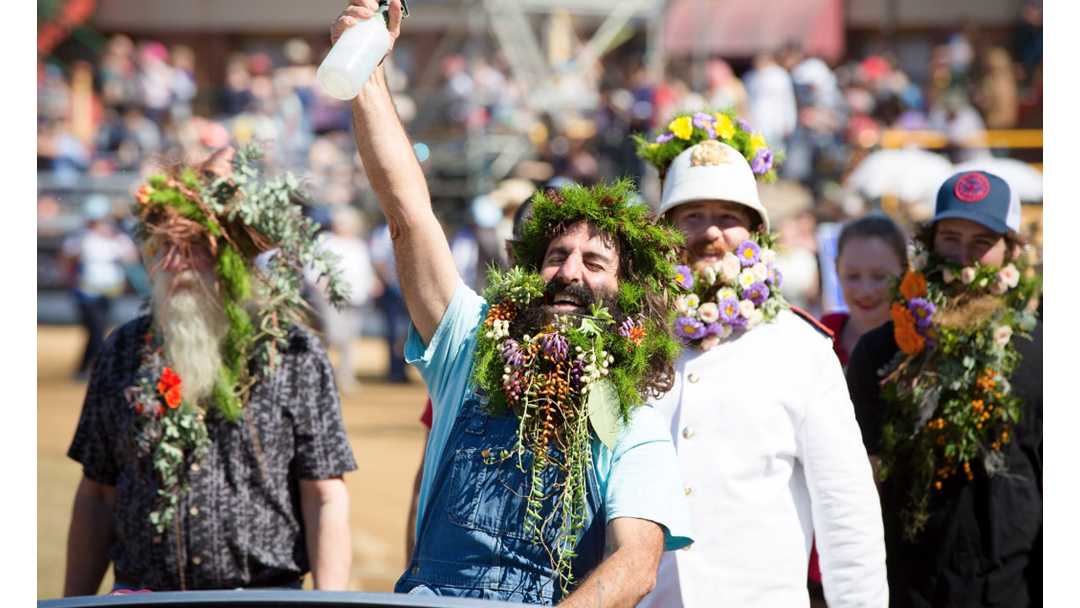 The Ekka's Floral Beard Parade Is The Best Thing I've Watched Today