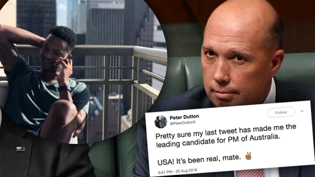"""""""Black Peter Dutton"""" From Austin, Texas Has Been Flooded With Support And TBH We'd Have Him As PM"""