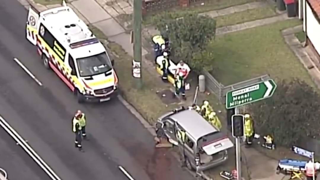 Mini Bus Full Of School Kids Involved In Crash In Sydney's South