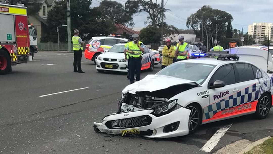 Police Car Involved In Two-Car Crash In Cronulla