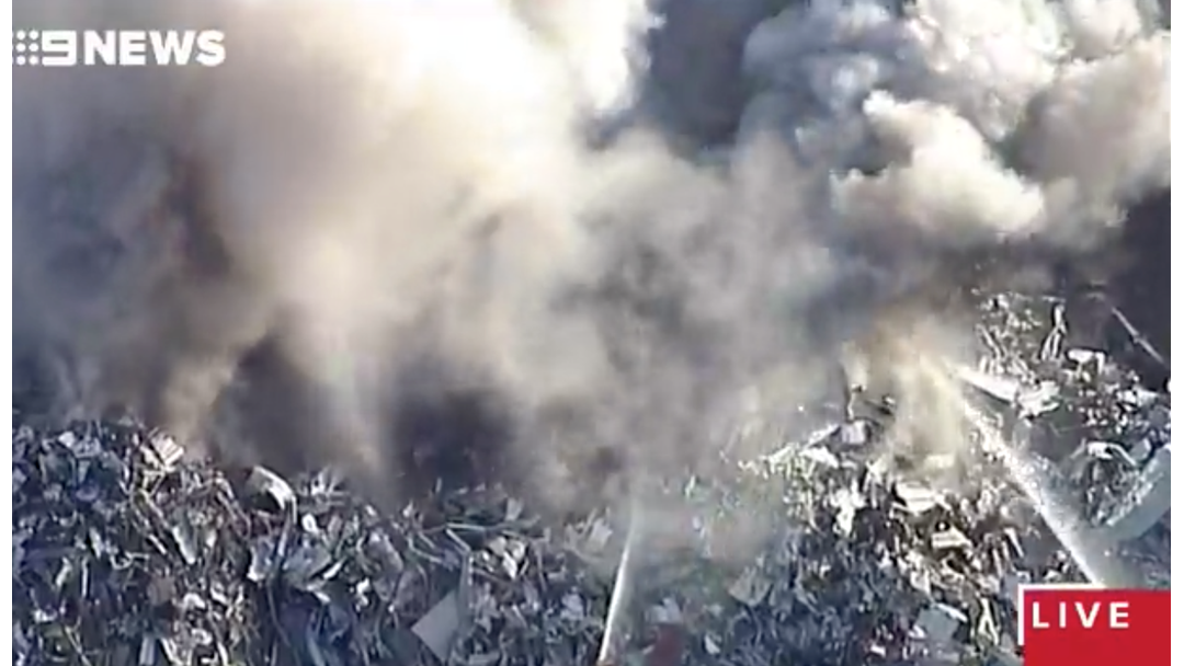 A Giant Blaze Has Broken Out At A Scrap Yard In Wacol