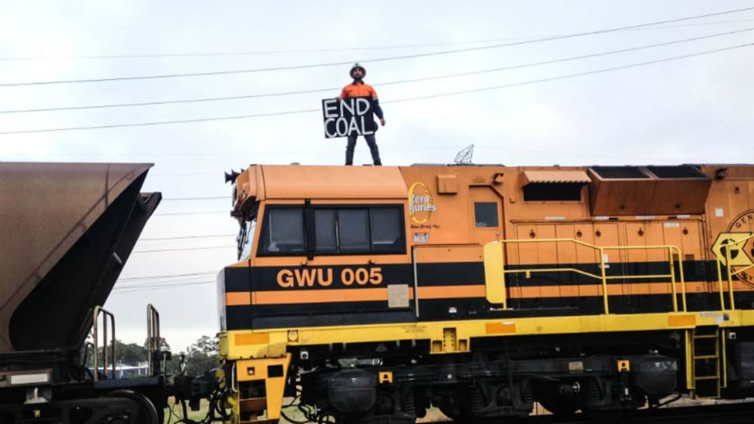 Former Mine Worker Stops Coal Trains