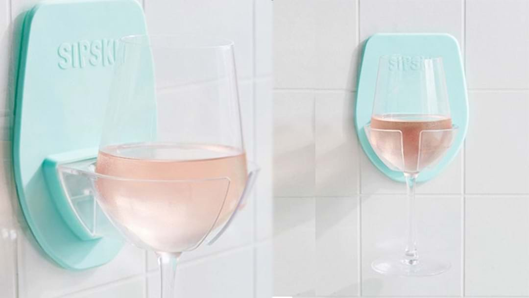 Shower Wine Glass Holders Are Here To Fix Your Sh*tty Day At Work