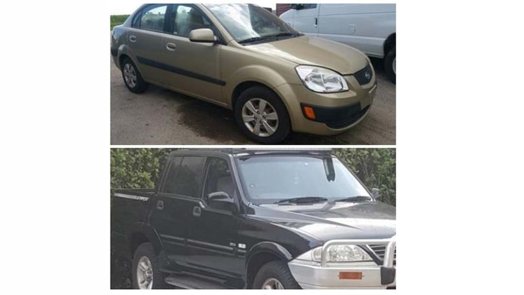 These Two Vehicles Have Been Stolen from Newtown
