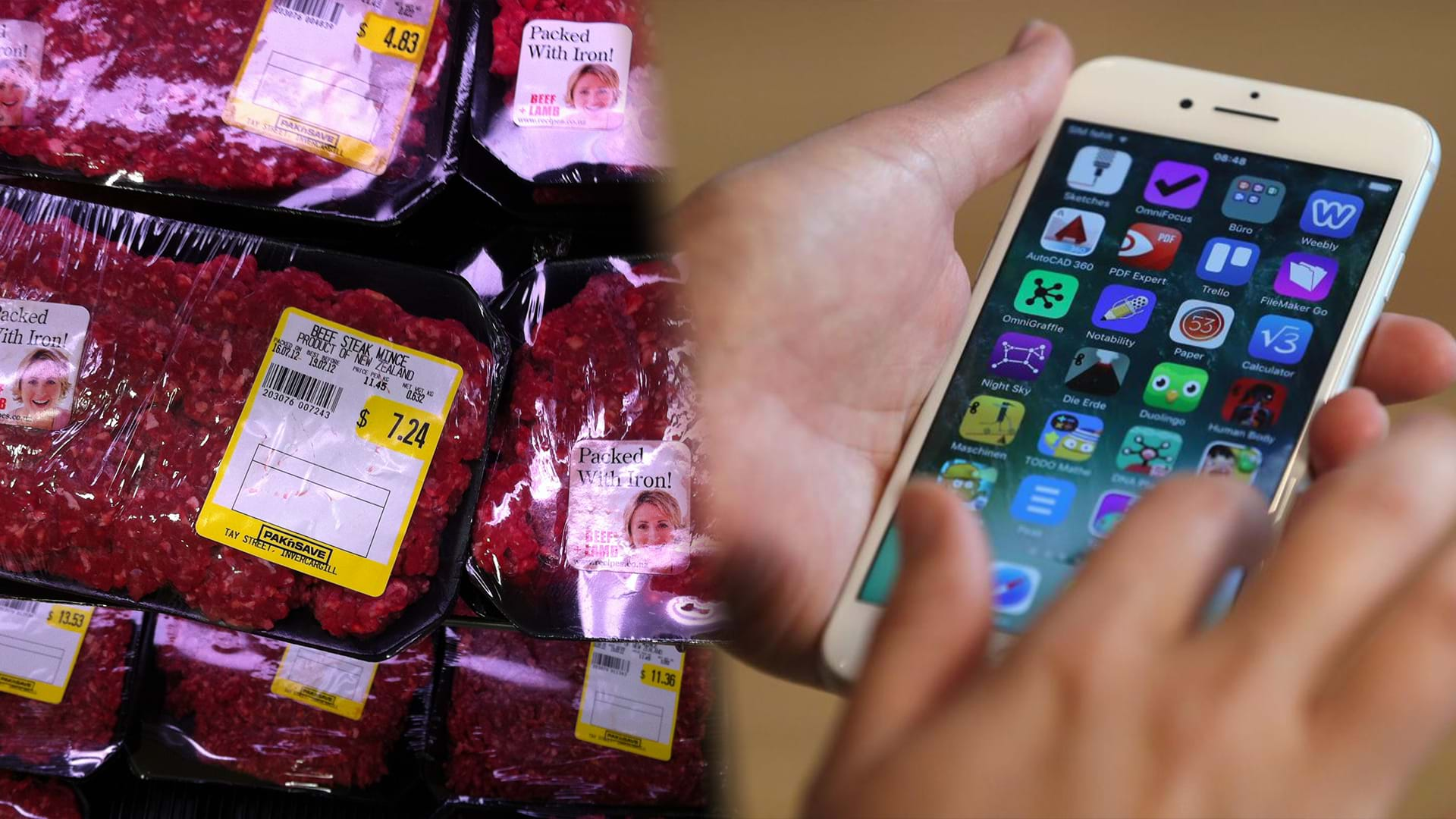 Article heading image for New Zealand Hit By Food Scandal As A Mobile Phone Is Shredded Into Minced Meat