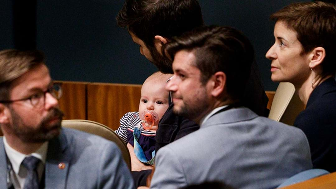 Kiwi PM Jacinda Adern's Baby Daughter Neve At The UN Is Just Adorable