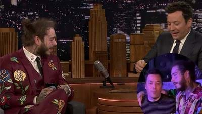 Caught! Post Malone And Jimmy Fallon Sinking Beers