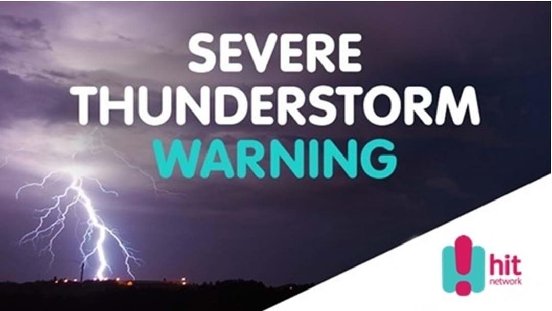 BOM Release Severe Storm Warning