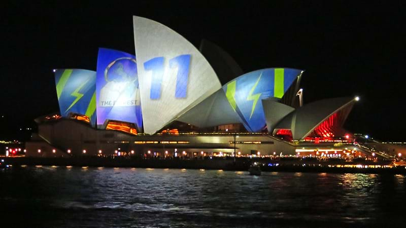 Article heading image for The Sydney Opera House Lit Up For Everest Last Night And The Protestor Chants Were AMAZING