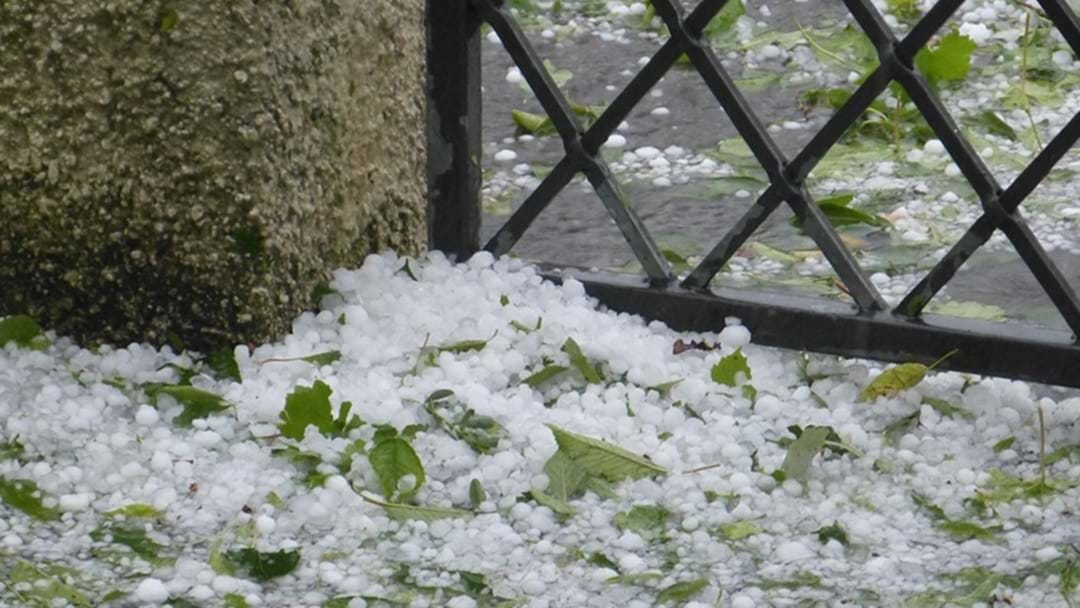 Hail Stones the Size of Tennis Balls Smash Parts of the South Burnett