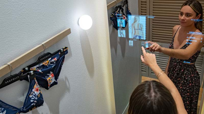 Article heading image for Seafolly's NEW Interactive Change Rooms Make Buying A Bikini LESS Awkward