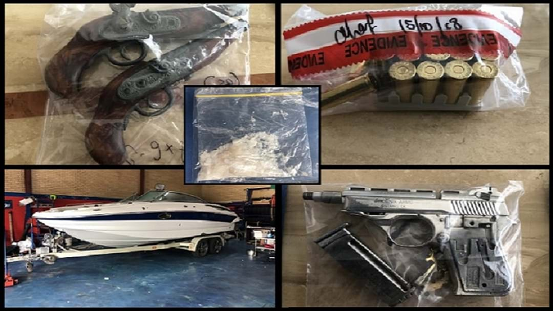 Guns, Drugs And Boat Among Items Seized During Police Raids Across Gold Coast and Brisbane