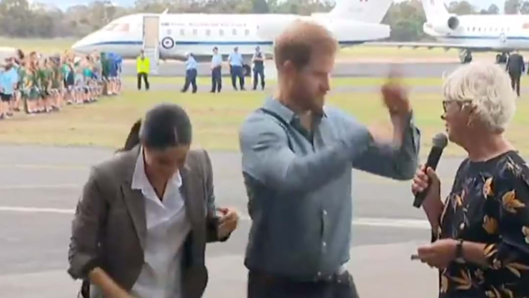 Prince Harry Has Absolutely No Chill, Breaks Out Very Intense Fly Swatting In Dubbo