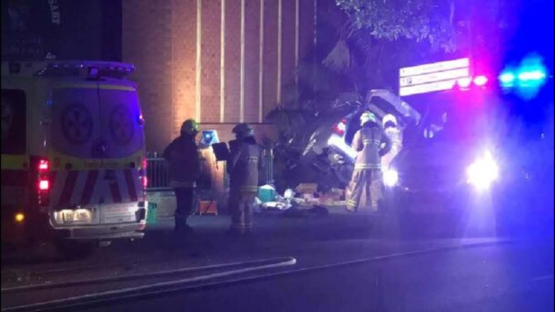 Woman Charged After Entrance Accident