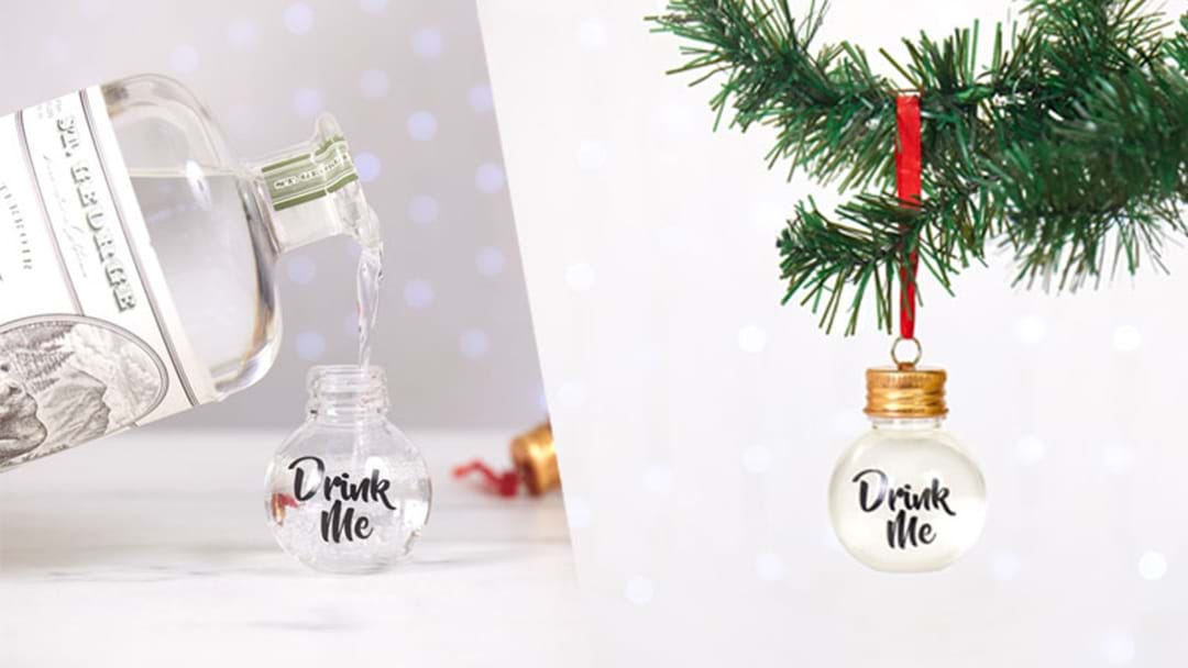 Booze-filled Christmas Ornaments Exist To Make Your Day Rosé!