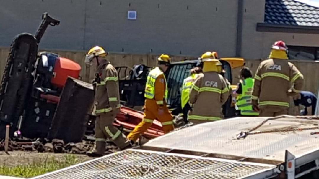 Man Injured After Excavator Accident On Worksite