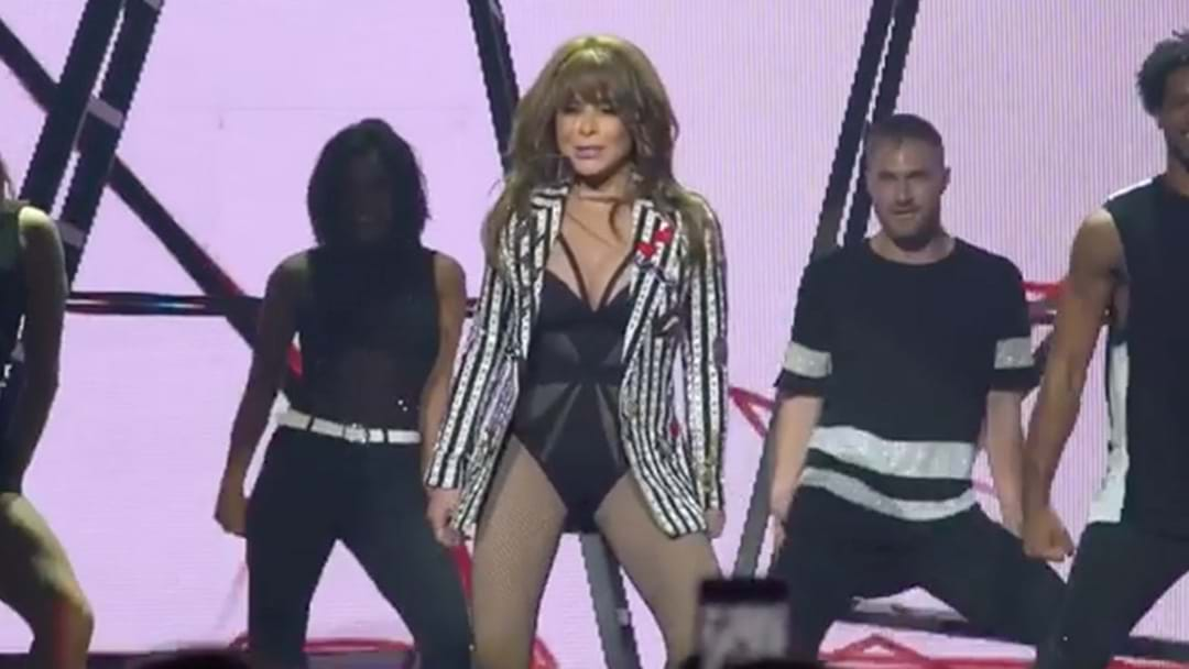 Poor Paula Abdul Fell Head First Off Stage