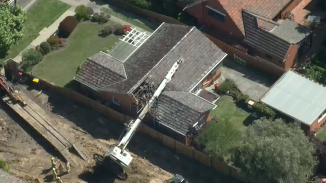 Crane Falls Onto Elderly Couple's Home In Melbourne's North-West