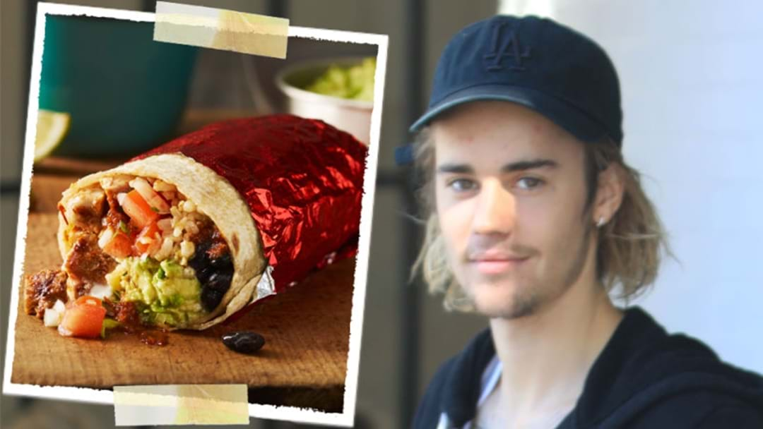 Image result for Justin Bieber Eating a Burrito Sideways is Totally Fake