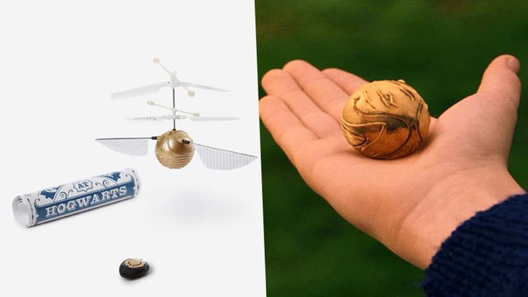 A 'Golden Snitch' Drone Exists & You Can Catch It Like Harry Potter Did