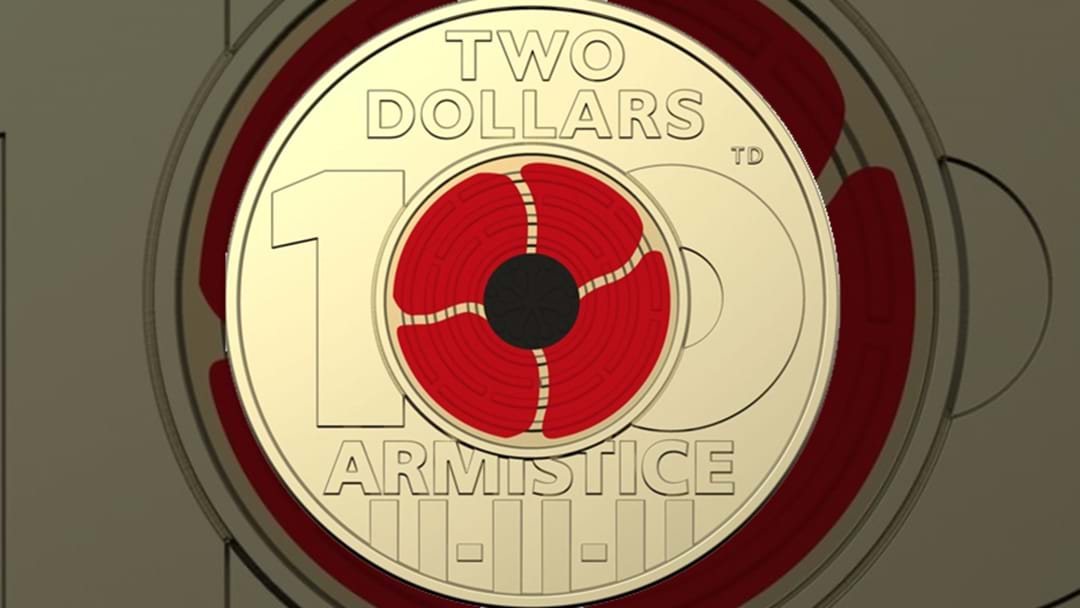 New $2 Coin Commemorating 100 Years Since The 1918 Armistice