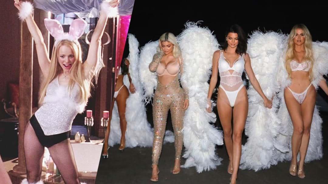 The Kardashians Go Full Regina George For VS Lingerie Halloween Costumes