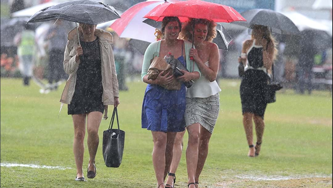 Heavy Rain Forecast For Melbourne Cup Day