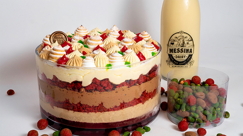 Article heading image for Messina's Christmas Gelato Trifle Is Back & We're Already In A Food Coma