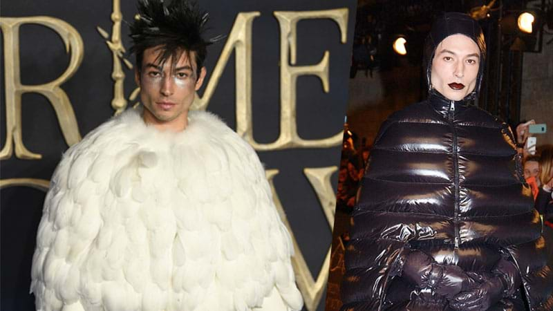 Article heading image for Fantastic Beasts' Ezra Miller Dressed As Hedwig & MORE For The Premiere