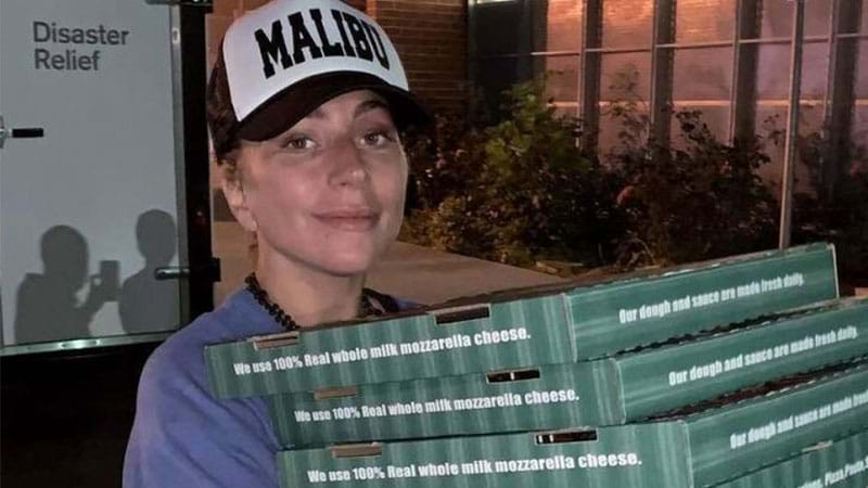 Article heading image for Lady Gaga Personally Delivered Pizza To California Wildfire Victims