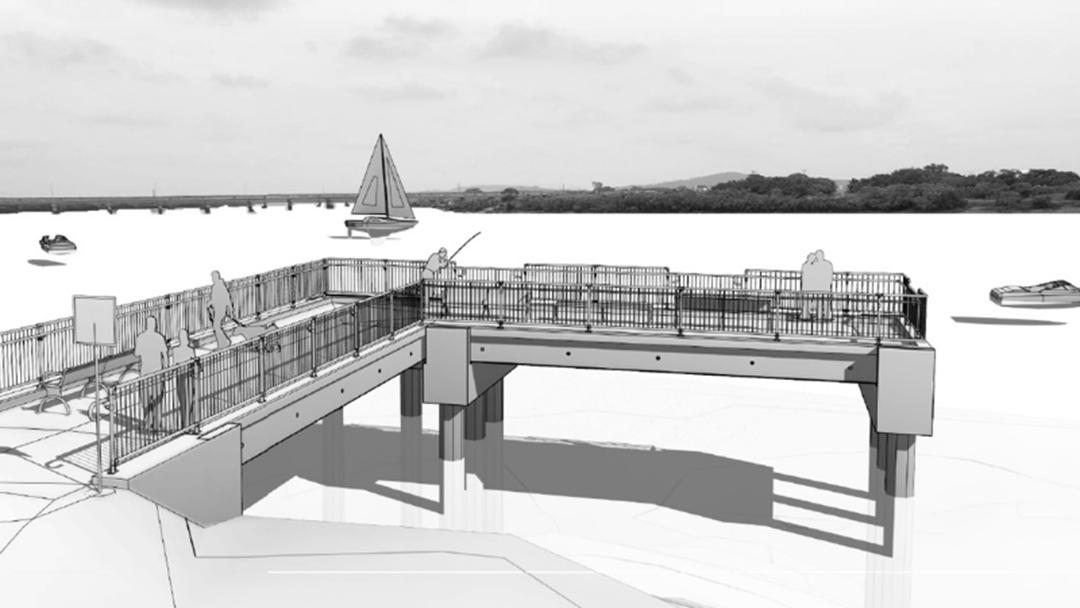 New Fishing Pier At Hospital Bridge