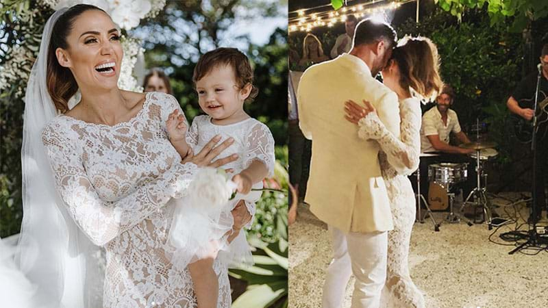 Article heading image for Sam & Snezana Wood Share Intimate Photos From Their Dream Wedding