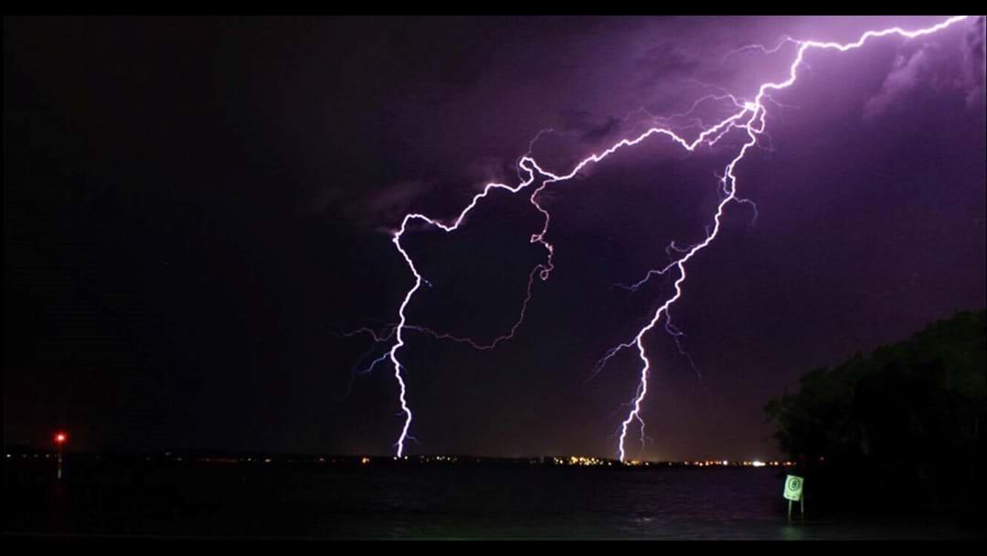 PHOTOS: Lightning Over The Entrance