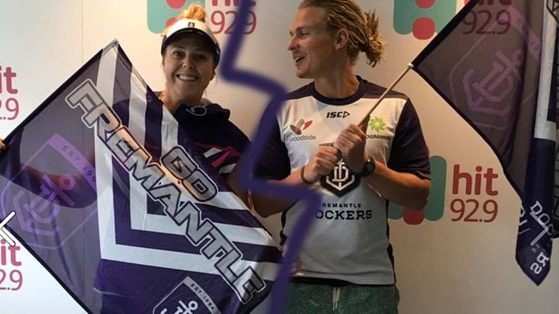 Woody challenges Heidi for her Freo Dockers Women's Ambassador Title!