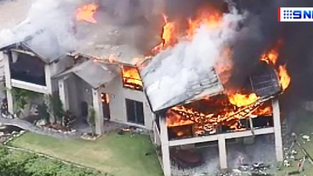 Willow Vale house burns