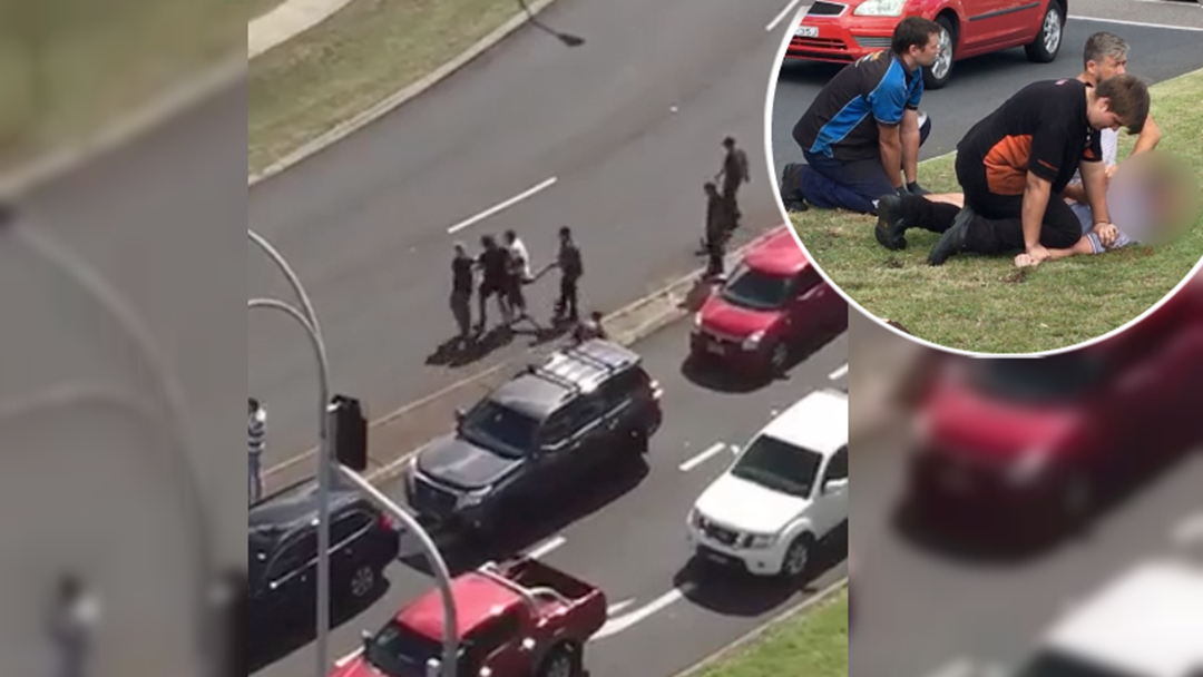 WATCH: Brave Onlookers Tackle Man Attacking Drivers in Charlestown