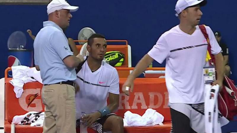 Article heading image for FANS WANT KYRGIOS TO APOLOGISE FOR SWEARING