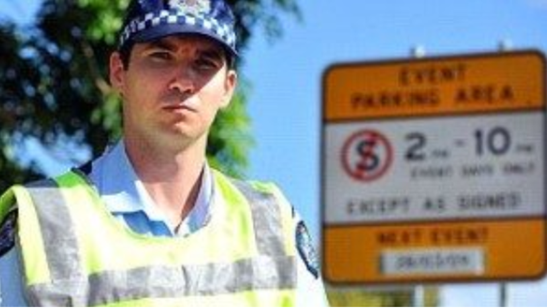 Townsville Police Parking Warning