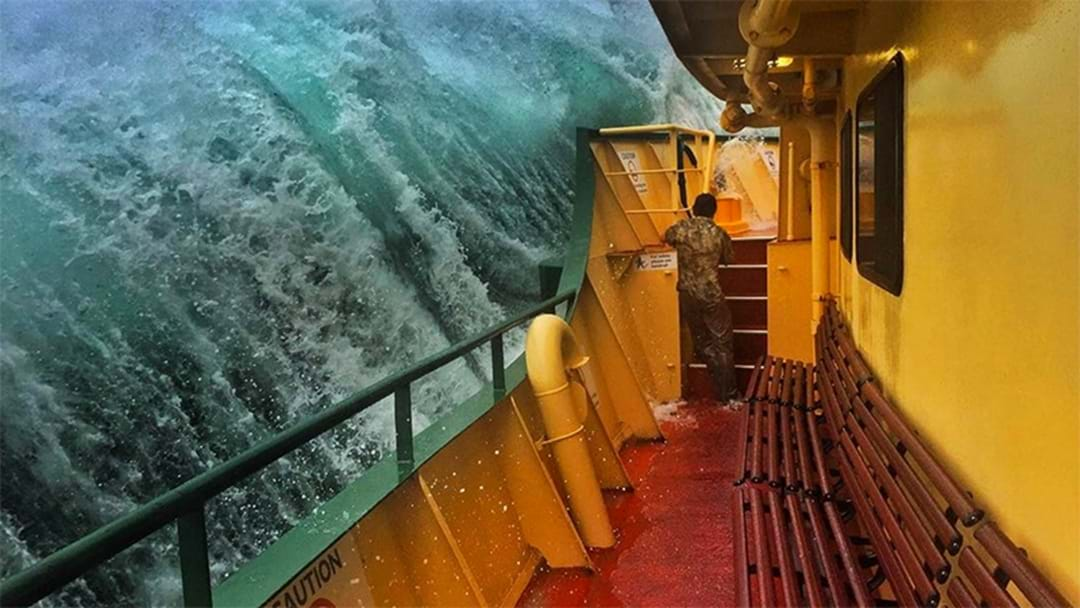 These Photos Of Monster Waves Taken From Sydney's Manly Ferry Are Terrifying