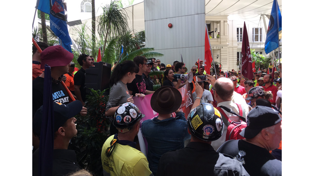 Thousands Of Union Workers Protest In Brisbane's CBD Over Penalty Cuts
